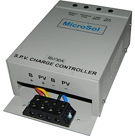 Microsol Steel Solar Charge Controller 48V 30Amp PWM