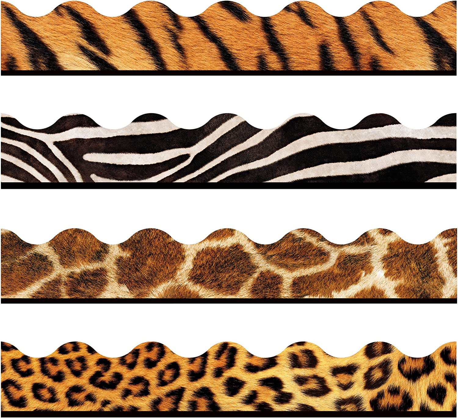 TREND enterprises, Inc. T-92917 Animal Prints Terrific Trimmers, Variety Pack, 156', Brown