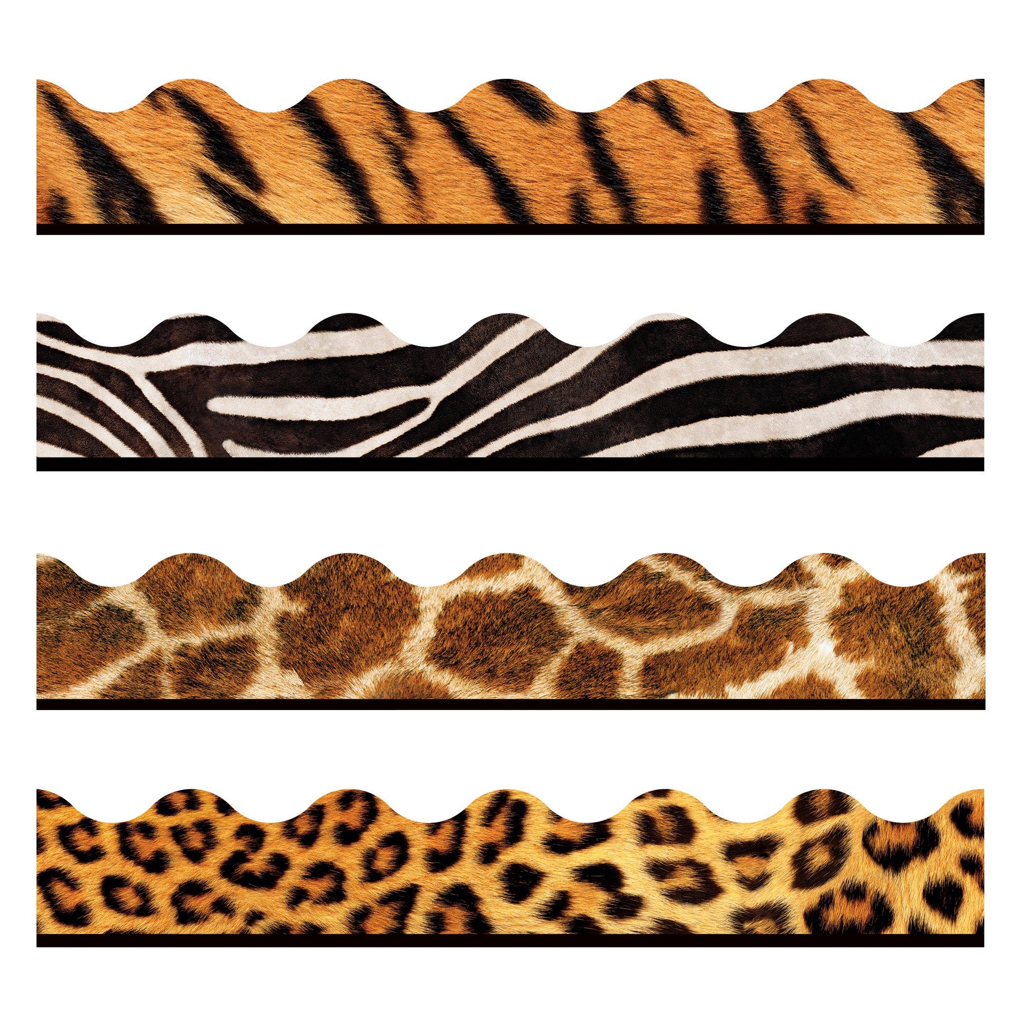TREND enterprises, Inc. T-92917 Animal Prints Terrific Trimmers, Variety Pack, 156'