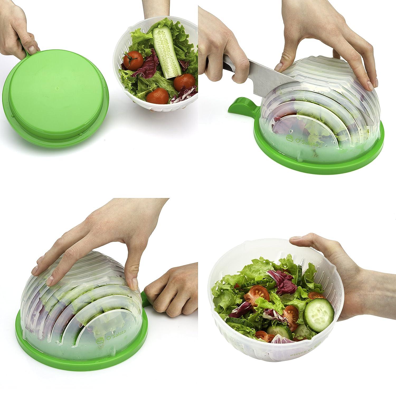 Amazon.com | THE ORIGINAL Salad cutter bowl - Best Salad maker ...