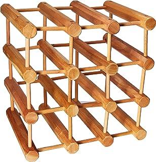 0c938d911f Amazon.com: Jumbo Bin Grid 100 Bottle Wine Rack - Walnut: Home & Kitchen