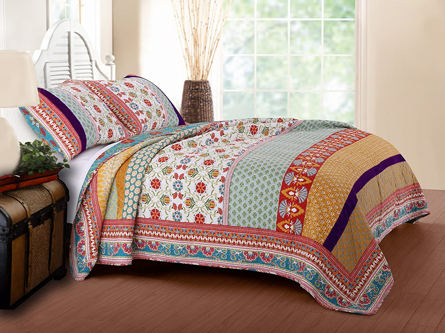 Greenland Home Thalia Quilt Set, 3-Piece King