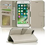 Arae Case for iPhone 7 Plus/iPhone 8 Plus, Premium PU Leather Wallet Case with Kickstand and Flip Cover for iPhone 7…