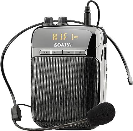 SOAIY Mini Amplificador Guitarra Portátil, Altavoz Portátil por ...
