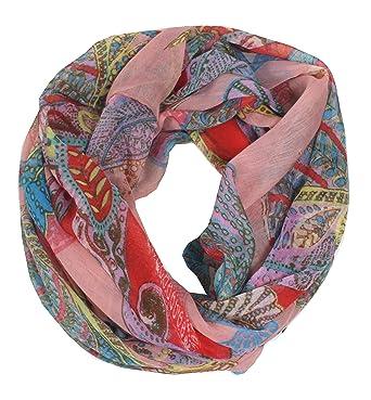floroppa – Loop Écharpe écharpe pour femme avec motifs de fleurs et de  nombreux Designs et aeb24ab37fb