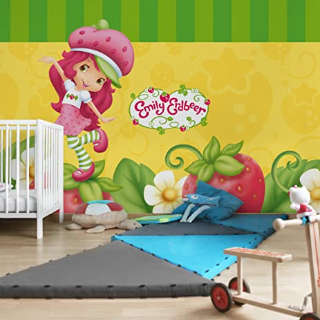 Non-woven Wallpaper - Strawberry Shortcake - Kesse Emily Logo ...