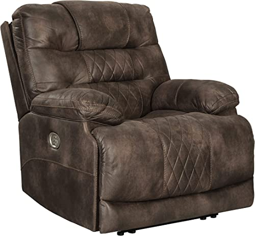 Signature Design by Ashley Welsford Power Recliner Adjustable Headrest Walnut
