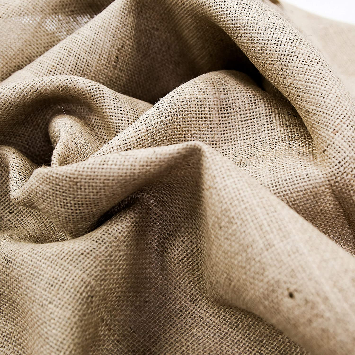 Natural 38-40 Inches Wide 100/% Jute Over 100 Yards in Stock- 10 Yard Bolt Burlap Fabric