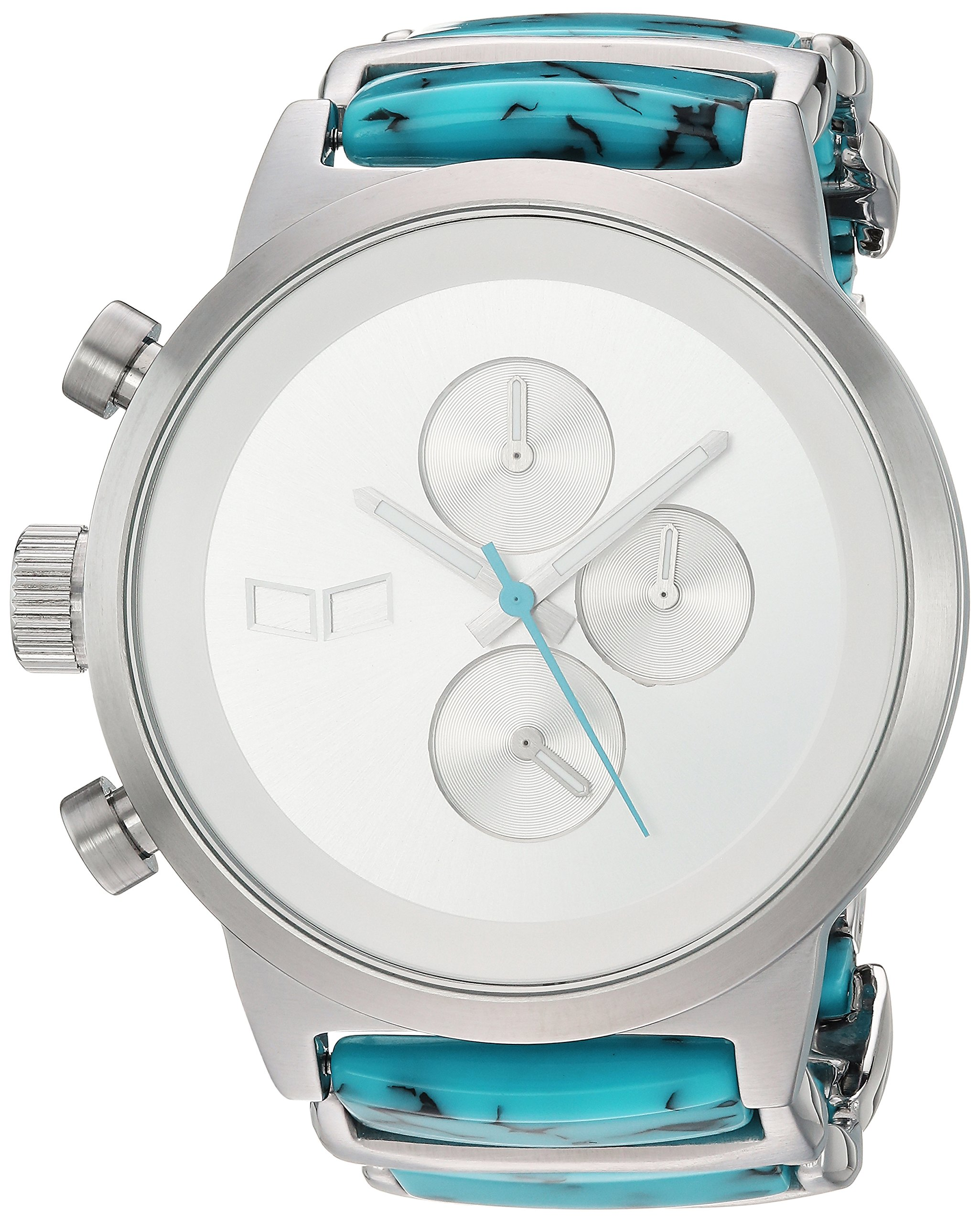 Vestal Metronome Japanese-Quartz Watch with Stainless-Steel Strap, Silver, 20 (Model: METCA06)