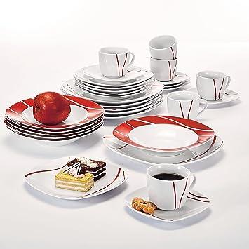 Malacasa, Série FELISA, 60pcs Service de Table Porcelaine Service à Café 12  Tasses, b1bac28ca471