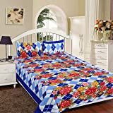 RD TREND Warm Double Bedsheet/Fleece Blankets Soft Touch (225 x 225 cm) with 2 Pillow Cover (17 x 27)