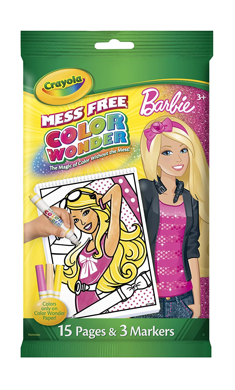 Amazon.com: Crayola Color Wonder Barbie Mini Coloring Pad and ...