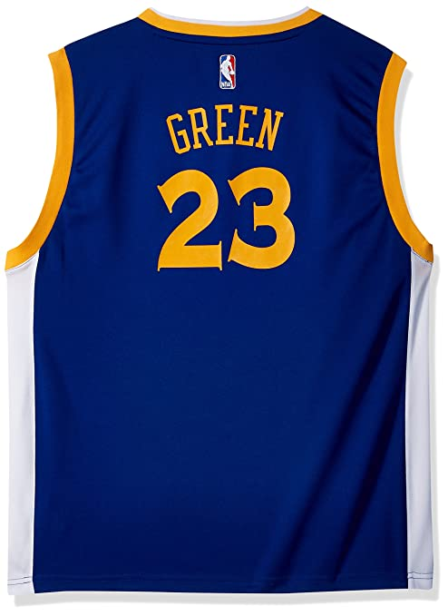 big sale 8a3ce 94ffc NBA Golden State Warriors Draymond Green Youth Boys Replica Player Road  Jersey, X-Large (18), Blue