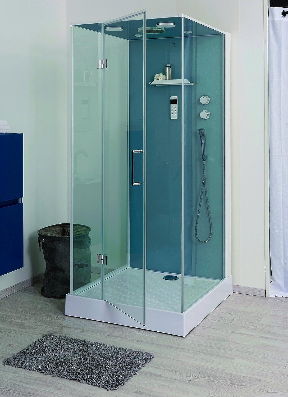 Aqua Plus sachcabbri90 Bria 90/100 de cabina de ducha no Hydro sin silicona