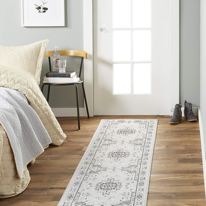 "Home Dynamix Premium Sakarya Traditional Oriental Area Rug 1'9""x7'2"" Gray/Ivory"