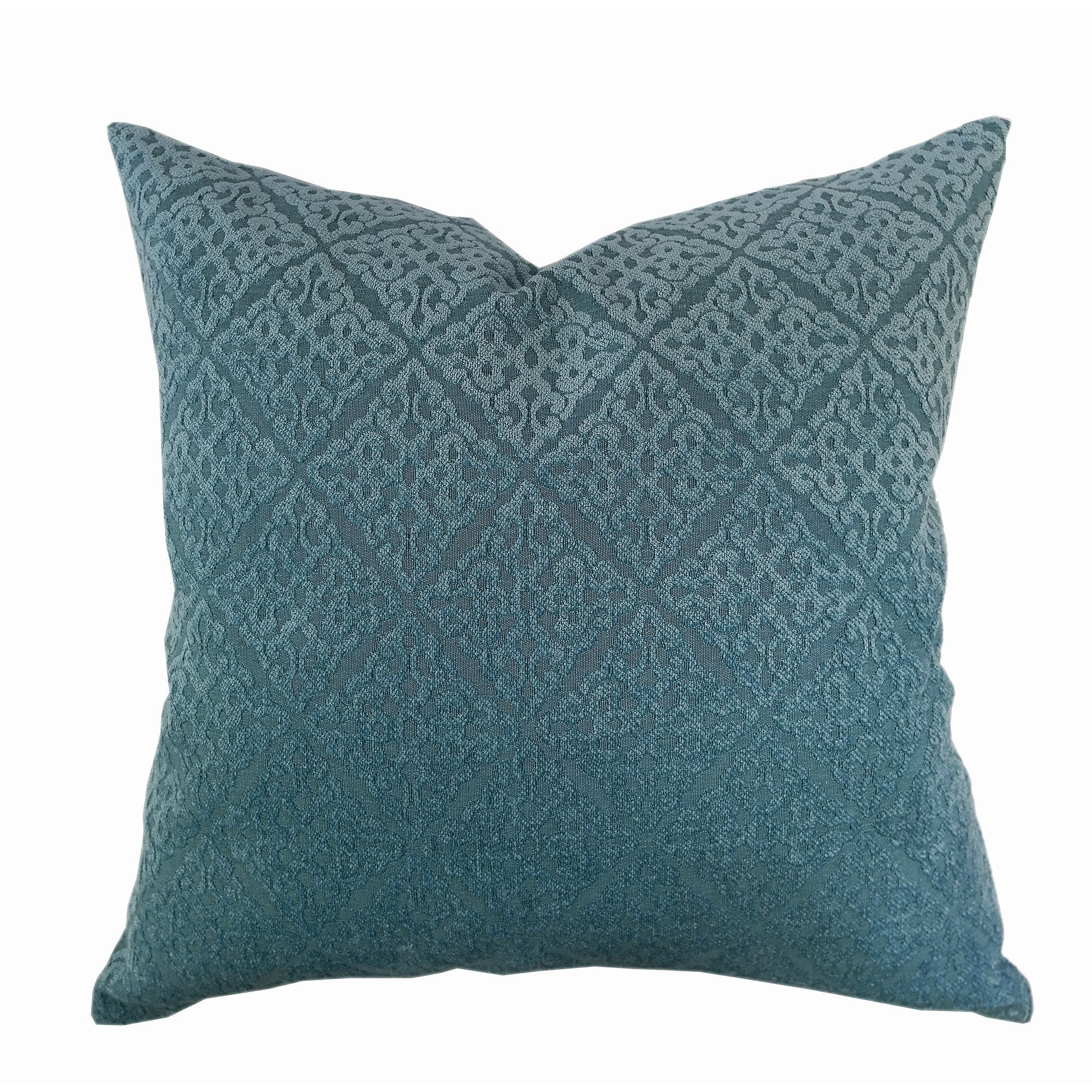 Home Accent Pillows Chenille Jacquard Throw Pillow Spa Blue, Turquoise