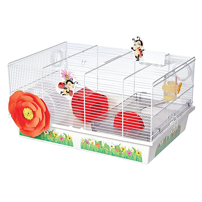 Amazon.com : MidWest Homes for Pets Hamster Cage | Lovely Ladybug Theme | Accessories & Decals Included : Pet Supplies