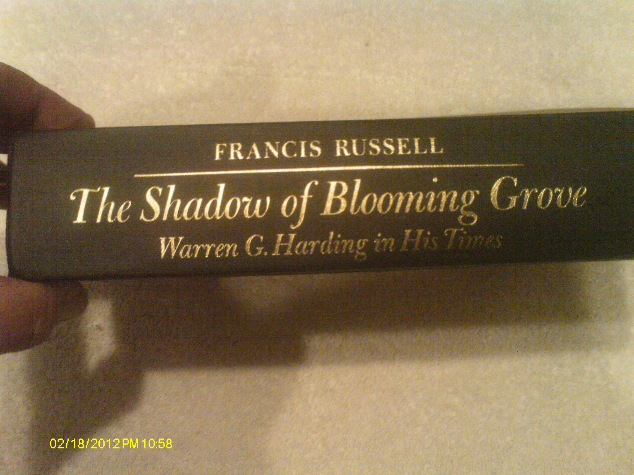 The Shadow Of Blooming Grove: Warren G Harding In His Times: Francis  Russell: 9780070543386: Amazon: Books