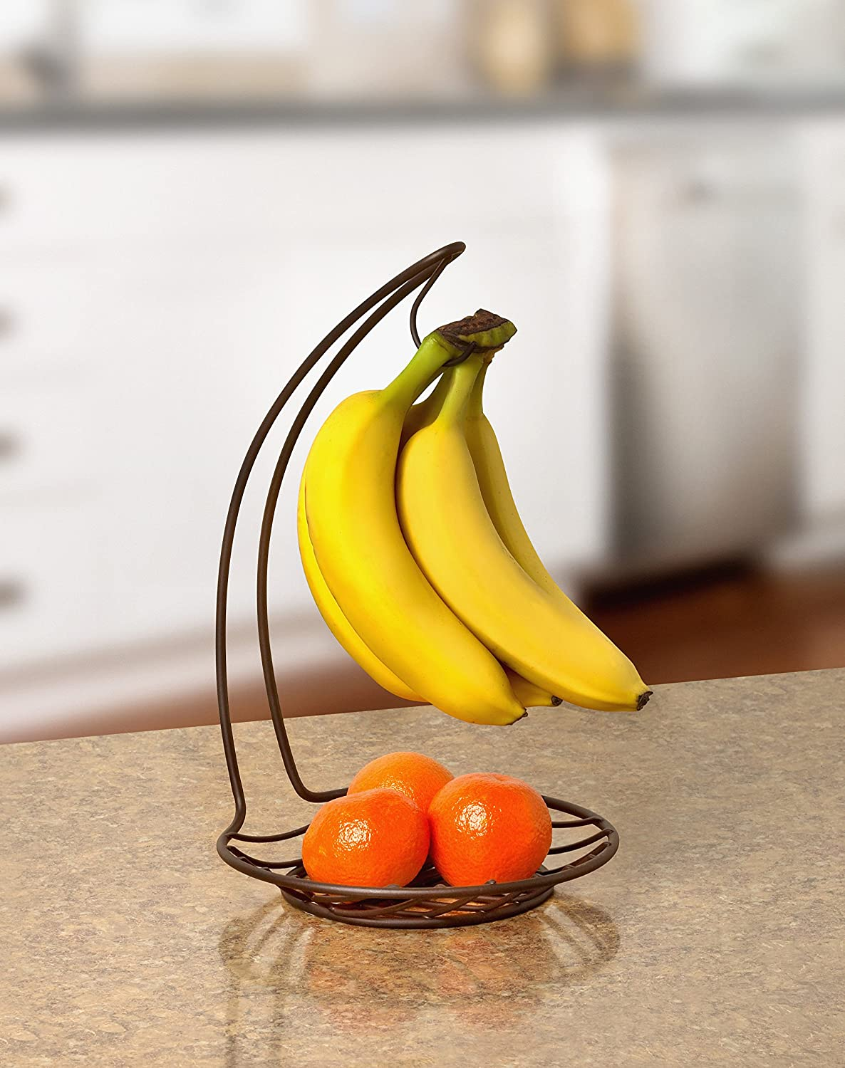 Amazon Com Spectrum Diversified Wright Banana Holder Countertop Tree Hanger For Bananas Small Tray For Fruits Vegetables Produce And Snack Storage Sits On Bars Tables Bronze