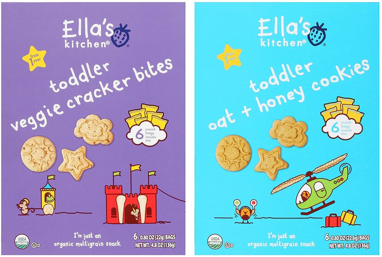Ella\'s Kitchen Organic Multigrain Snack Bundle: (1) Toddler Veggie ...