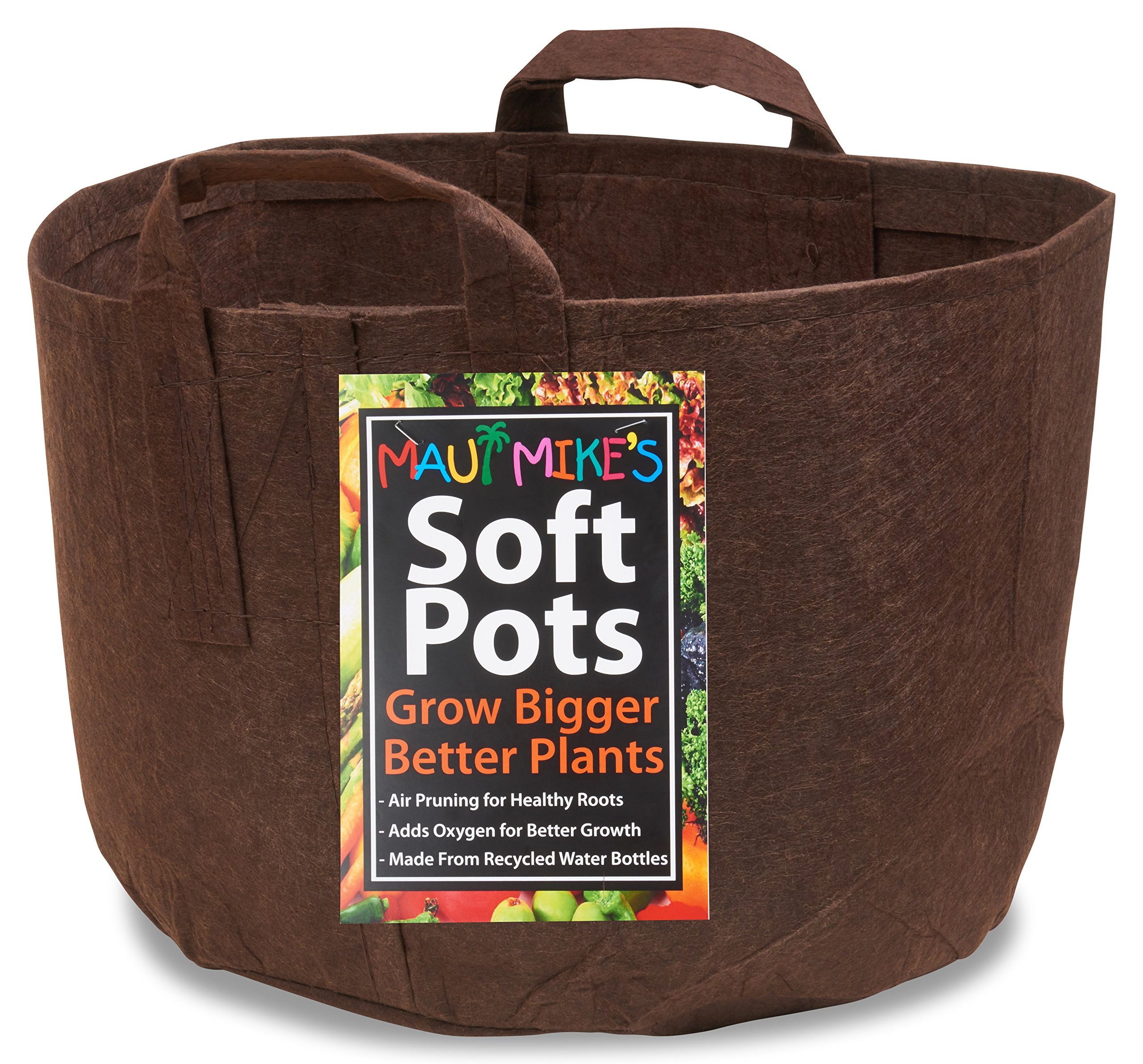 SOFT POTS (15 GALLON) BEST FABRIC AERATION GARDEN POTS FROM MAUI MIKE'S. THICKER FABRIC AND SEWN HANDLES FOR EASY MOVING. GROW BIGGER AND HEALTHIER TOMATOES, VEGGIES AND HERBS IN SOFT POTS. by Maui Mike's Lip Balm