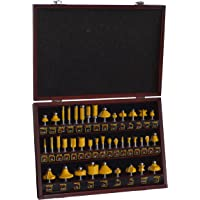 Pro Series 700596 Router Bit Set in Wood Box, 40-Piece