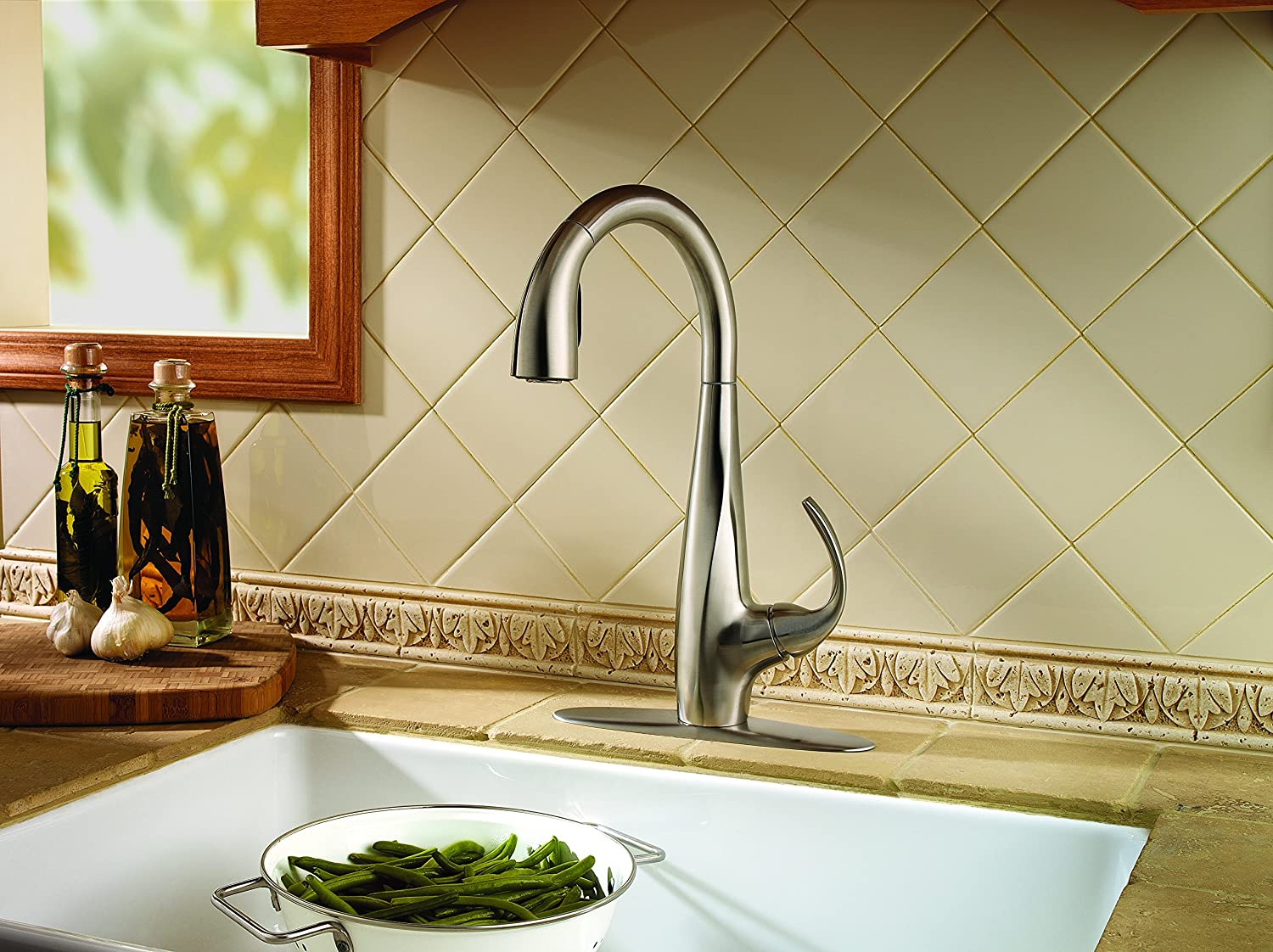 Pfister F 529 7ANS Avanti 1 Handle Pull Down Kitchen Faucet, Stainless  Steel, 2.2 Gpm   Touch On Kitchen Sink Faucets   Amazon.com