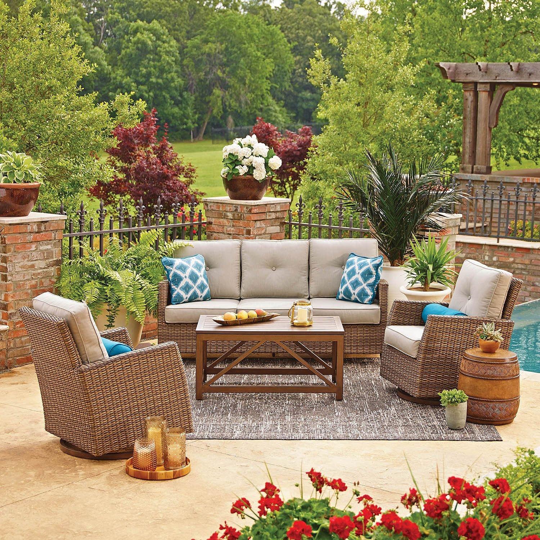 Amazon com members mark agio collection fremont seating set garden outdoor
