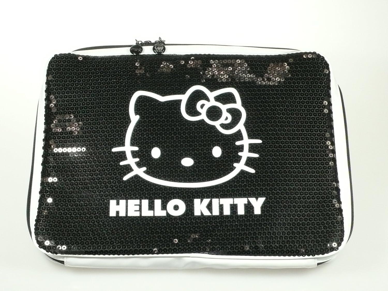 Hello Kitty ordenador portátil-funda Camomilla/funda de cuero con lentejuelas negro (hasta 35.56 cm): Amazon.es: Informática