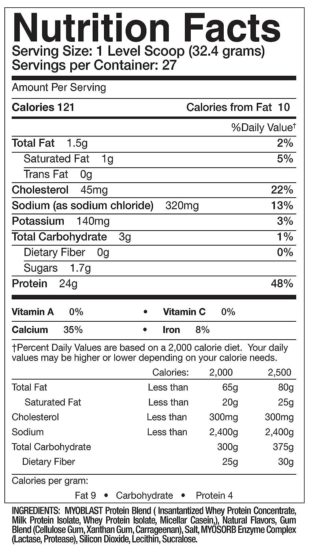 Nubreed MYOBLAST Cinnamon French Toast Ultra Premium Protein Blend 27 Servings