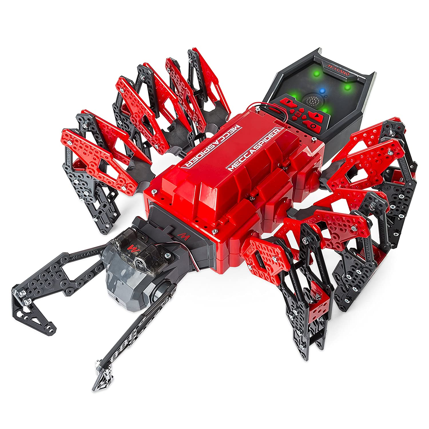 Meccano-Erector – MeccaSpider Robot Kit for Kids to Build, STEM Toy with Interactive Built-in Games and App