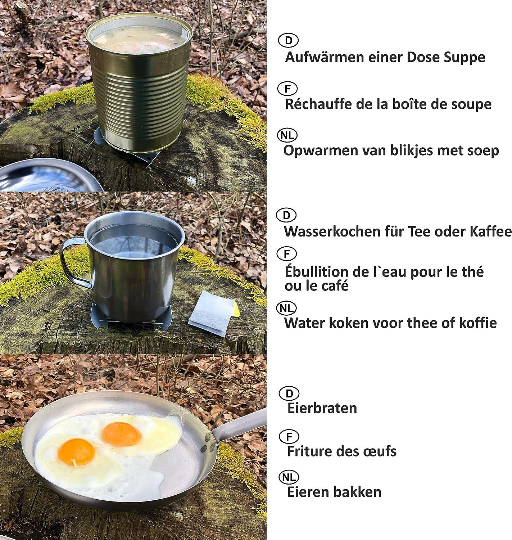 Kit militar para cocinar y calentar comidas
