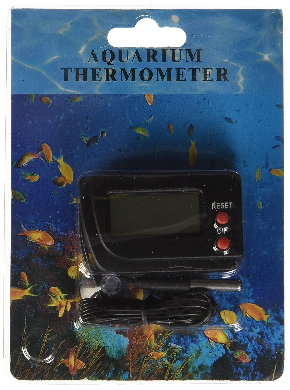 Amazon.com : eDealMax Jardin LCD del acuario del tanque de pescados Celsius/Fahrenheit termómetro Digital Con sonda, Negro : Pet Supplies