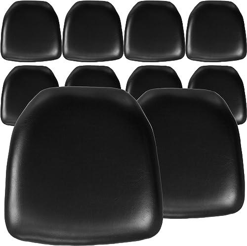 Flash Furniture 10 Pack Hard Black Vinyl Chiavari Chair Cushion - a good cheap outdoor chair cushion