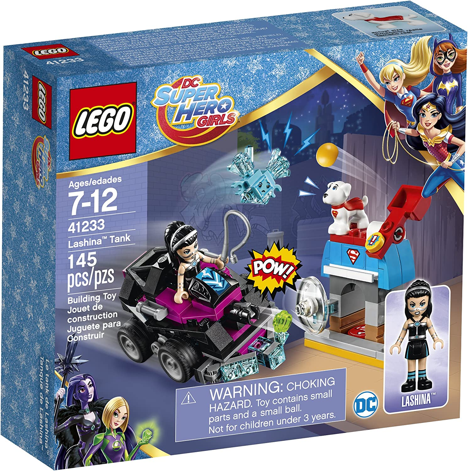 LEGO DC Super Hero Girls Lashina Tank 41233 Superhero Toy