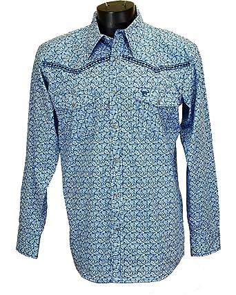 479ab9c9b37 Cowboy Hardware Men s Paisley and Diamond Stitched Long Sleeve Shirt at  Amazon Men s Clothing store