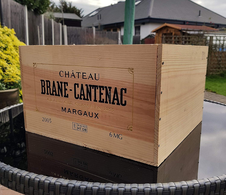 G/én/érique Magnum Caisse /à vin en Bois 6 Bouteilles Taille de bo/îte de Rangement Pot de Fleurs Vintage Retro