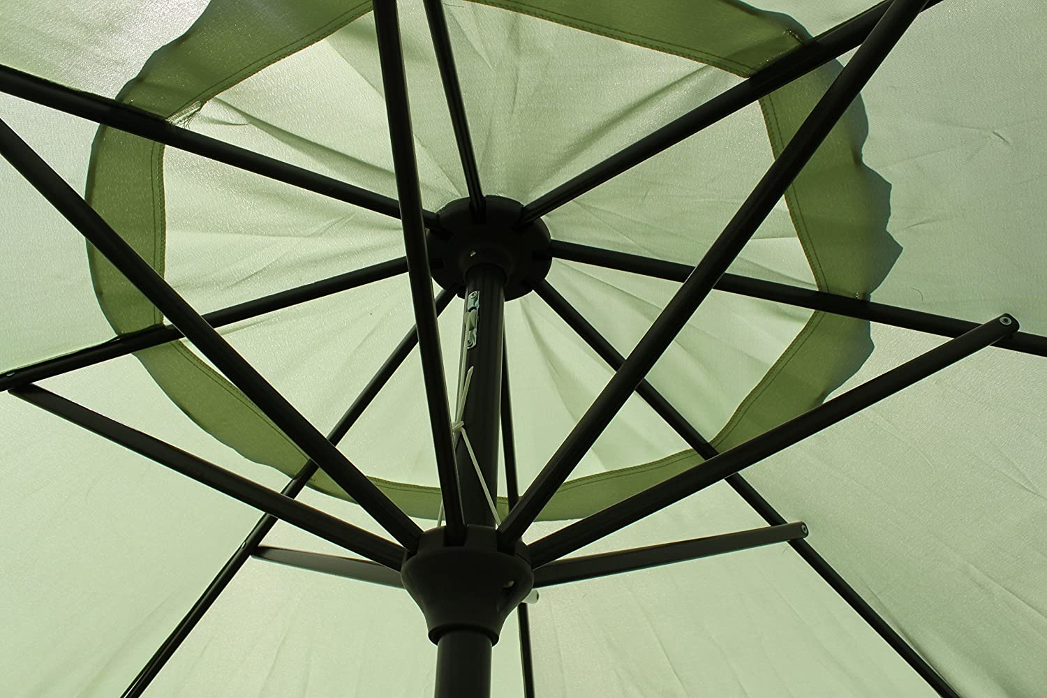 9 Market Patio Umbrella with Tilt and Crank – Light Lime Green