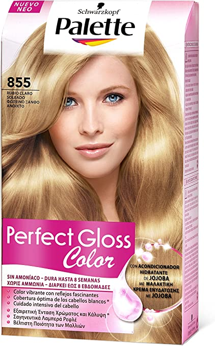 Palette Perfect Gloss 1862151 - Coloración semipermanente/baño de color, tono 855 - [paquete de 3]