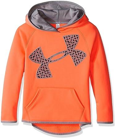 under armour sweatshirts for girls. under armour girls\u0027 fleece jumbo logo hoodie, after burn/after burn, sweatshirts for girls h