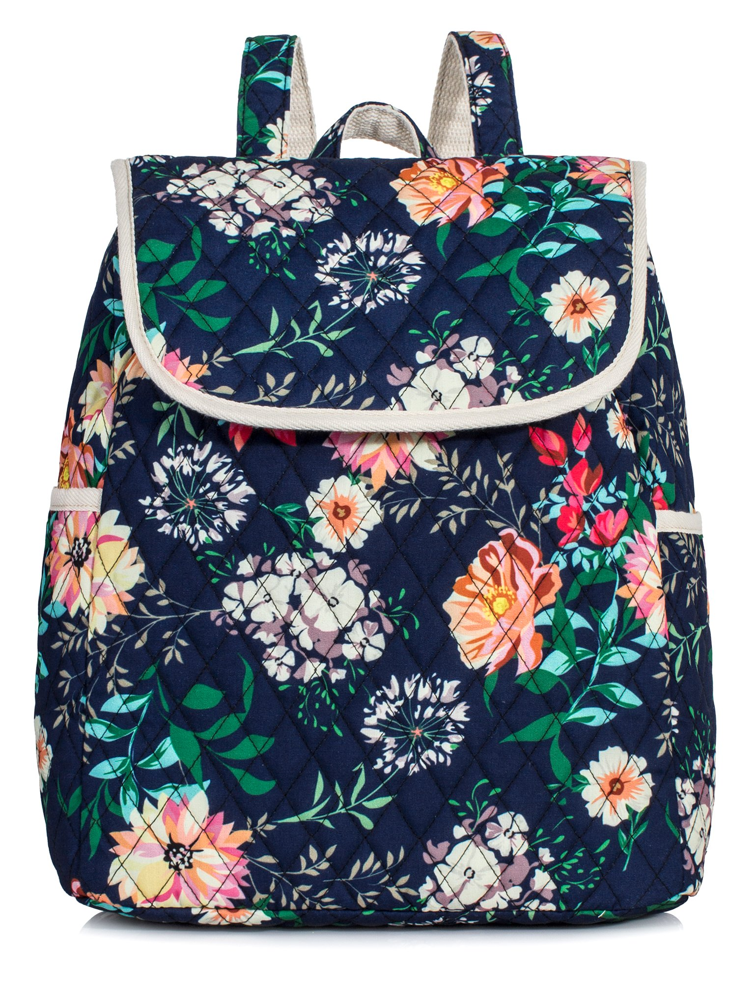 Backpack for Teenage Girls, Floral College Student School School Canvas Bag Knapsack