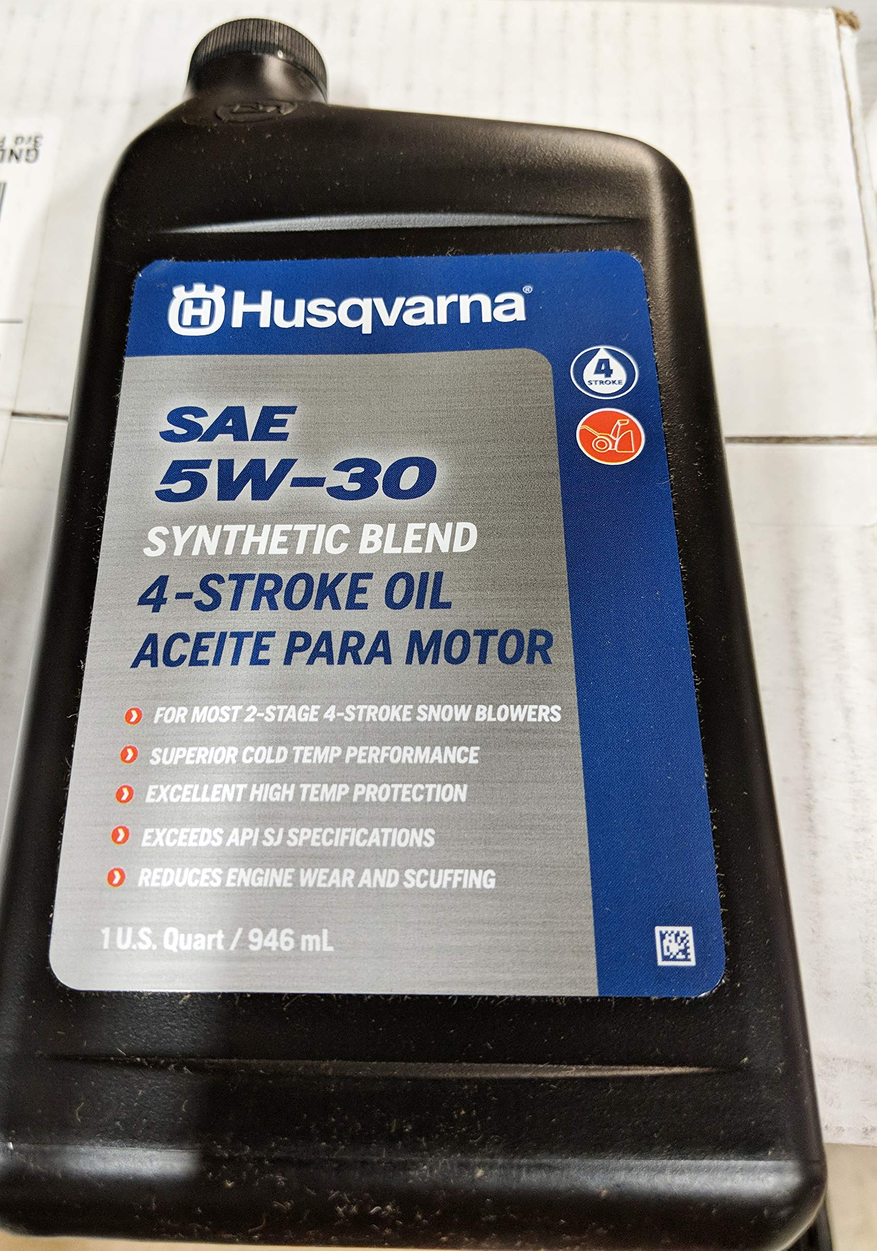 Husqvarna 32-oz 4-Cycle 5W-30 Synthetic Blend Engine Oil 593153504