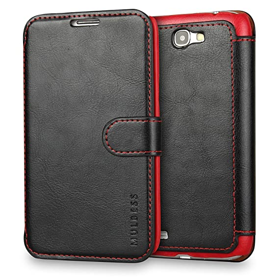 cheap for discount f6aa8 8ff35 Galaxy Note 2 Case Wallet,Mulbess [Layered Dandy][Vintage Series][Black] -  [Ultra Slim][Wallet Case] - Leather Flip Cover With Credit Card Slot for ...