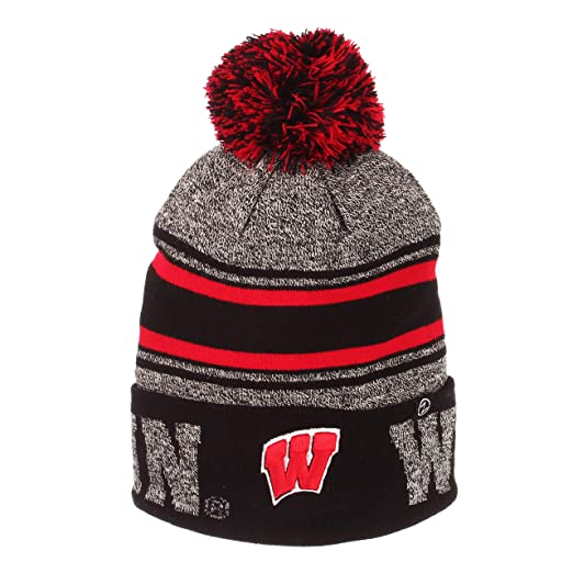 c9a5873d1e7 Amazon.com  Zephyr Hats University of Wisconsin Madison Orbit Knit Hat NCAA  College Beanie  Clothing