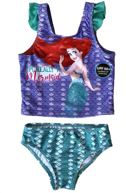 Toddler Girls Disney Little Mermaid Ariel 2 Piece Swimsuit