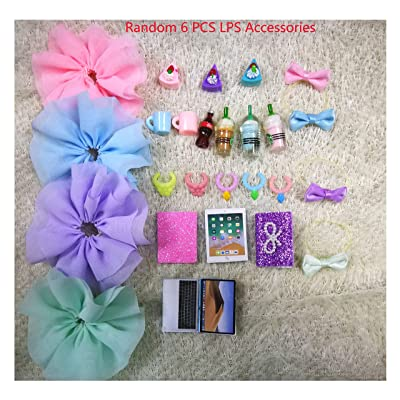 JWRAC LPS Accessories Lot (Random 6 PCS) Bow Skirt Clothes Collar Drink Cake Laptop Fit LPS Cat and Dog Collie Dachshund Great Dane Cocker Spaniel: Arts, Crafts & Sewing