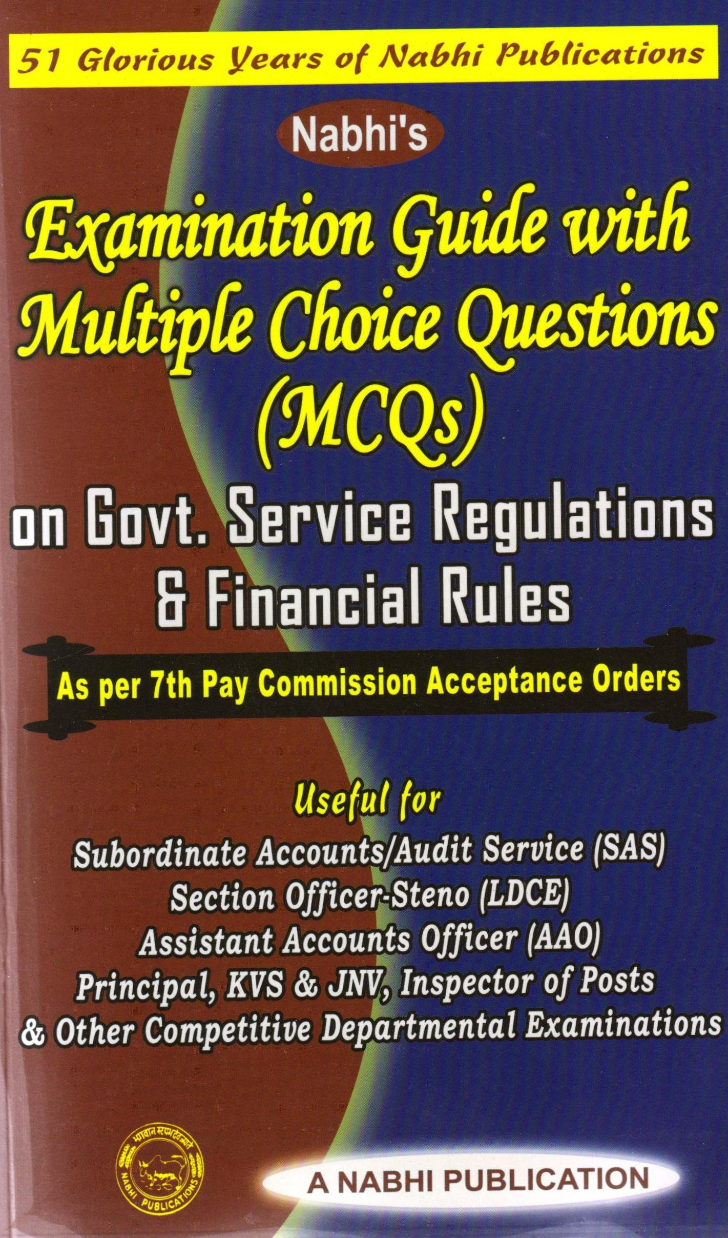 Amazon.in: Buy Examination Guide With Multiple Choice Questions (MCQs) on  Govt. Service Regulations & Financial Rules Book Online at Low Prices in  India ...