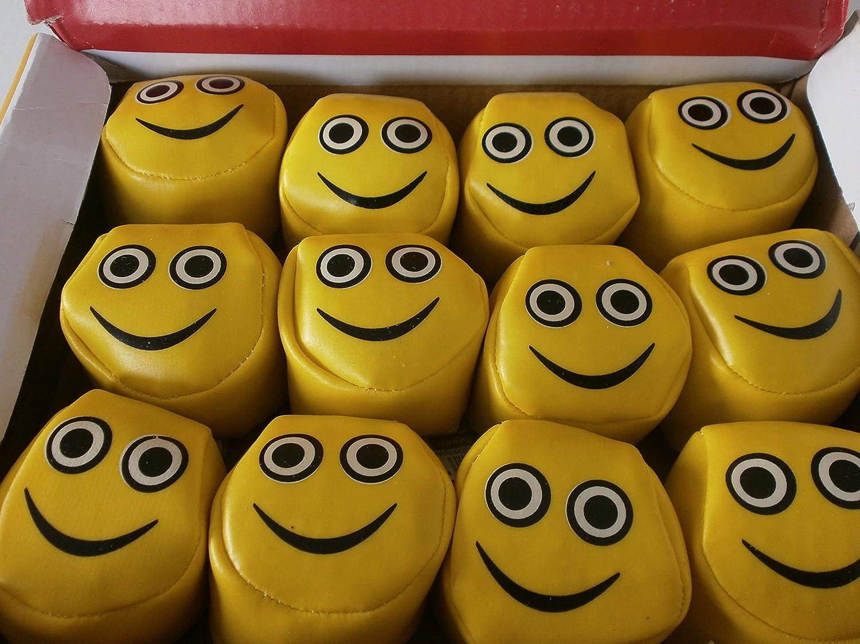 192 Smiley Jonglierbälle Fun Kickball Mitgebsel Kindergeburtstag