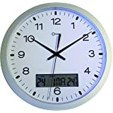 Orium 11581 Pendule Quartz à Date ABS Argent Diamètre 30 cm