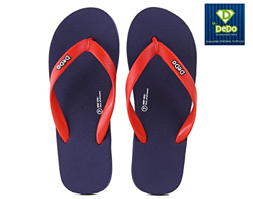1863b04ad5b352 DEDO Thailand Unisex Flip-Flops and House Slippers SD2 Navy RED UK 10  Buy  Online at Low Prices in India - Amazon.in